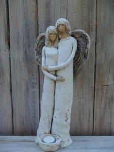 Anděl - víla stojící pár ( svícen )