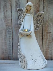 Anděl - víla stojící ( svícen )