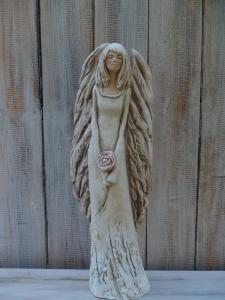 Anděl - víla s růží