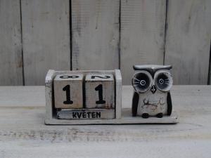 Kalendář sova - výška 10x18 cm