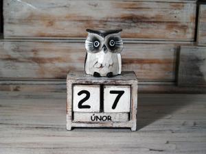 Kalendář sova - výška 16x11 cm