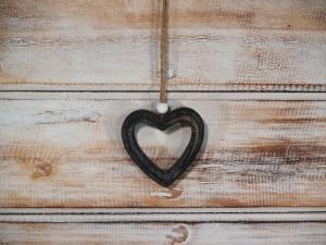 Závěska srdce ( set 10 ks )