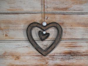 Závěska srdce ( set 5 ks )