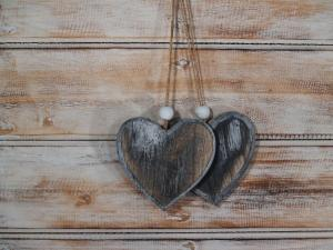 Závěska srdce ( set 2 ks )