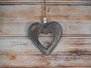 Závěska srdce ( set 4 ks )