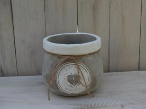 Obal keramika - průměr 16,5x14 cm