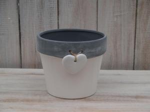 Keramický obal - průměr 14x12 cm