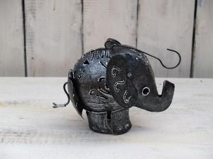 Slon - koule - průměr 10 cm ( svícen )