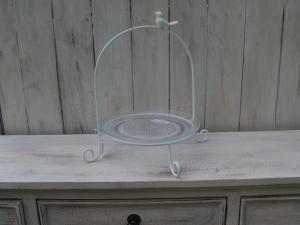 Stojan kovový s miskou - průměr 23 cm
