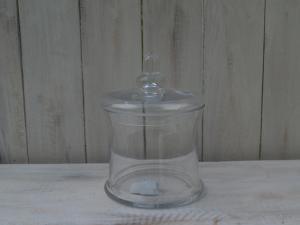 Skleněná dózička - průměr 14x20 cm