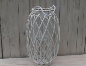 Proutěný svícen ( sklo ) - výška 50 cm