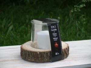 Svícen - kmen stromu - průměr 20x15 cm